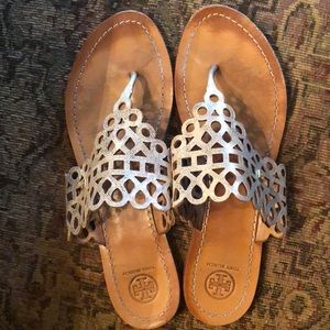 Tory Burch gold sandals size 10